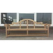 Traditional Teak Wilhelmina Lutyens Love Seat - 107 cm H x 262 cm W x 60 cm D