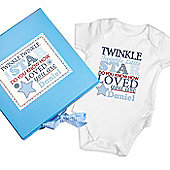 Personalised Twinkle Boys Blue Gift Set - Baby Vest