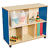 Liberty House Toys Primary Coloured Medium Mix and Match Straight Unit