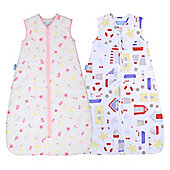 Grobag 0.5 Twin Pack Sandcastle & Sunny Meadow (6-18 Months)