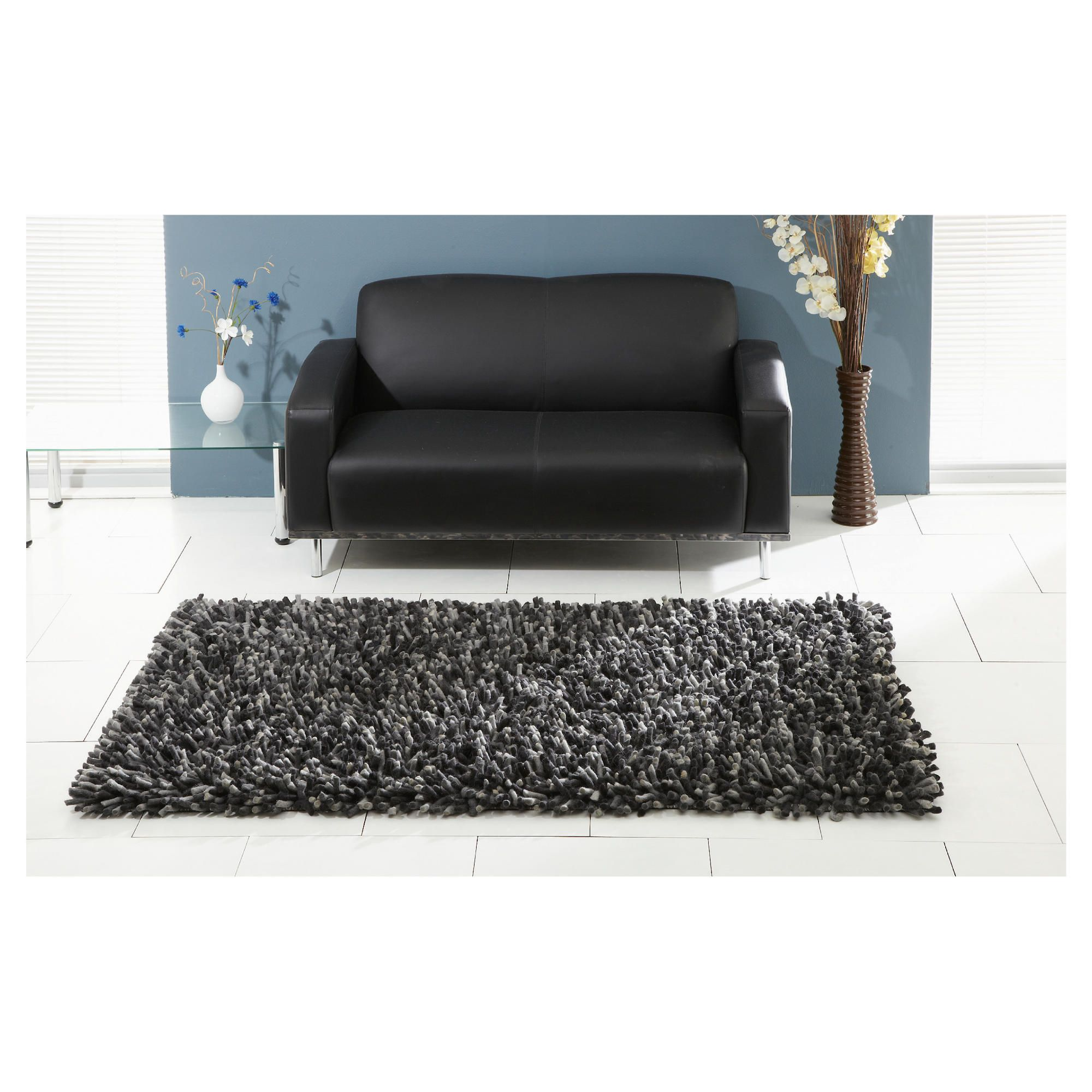 The Ultimate Rug co. Rocky Rug Grey 160x230cm at Tesco Direct