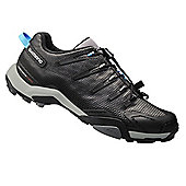 Shimano MT44 MTB SPD Shoes Black - Black