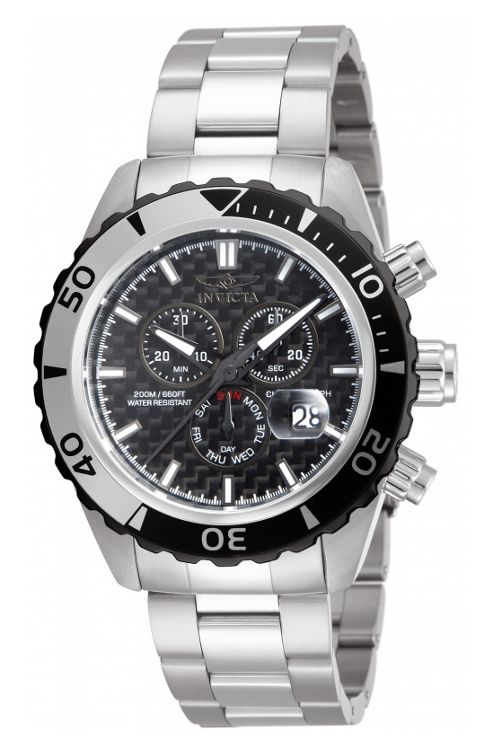 Invicta Pro Diver Mens Stainless Steel Chronograph Day Date Watch 12860