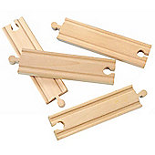 "6"" Straight Track X 4 For Wooden Railway Train Set 50904 - Brio Compatible"