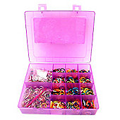 Jacks Rainbow and Glitter Looms Case with 1000 Bands