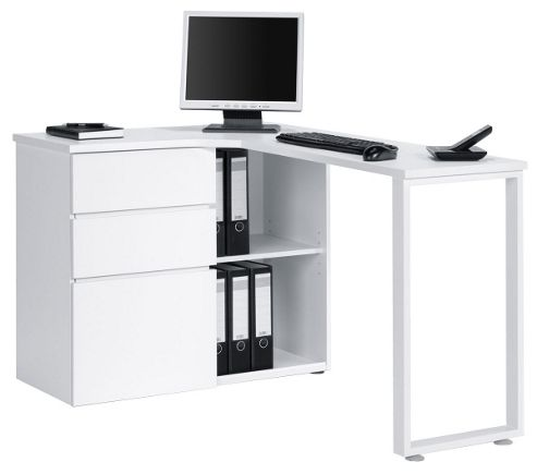 Buy maja penninsular white corner desk from our office desks tables range tesco - Tesco office desk ...