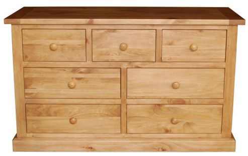 Furniture Link Devon Seven Drawer Dresser in Pine