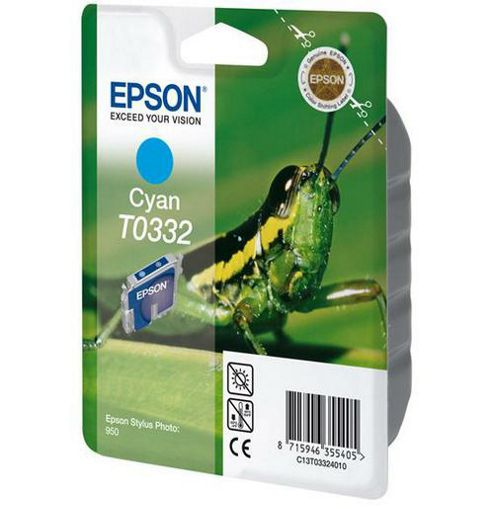 Epson T0332 Cyan Ink Cartridge for Stylus Photo 950 Printer