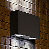 Faro Marat-2 Four Light Outdoor Wall Lamp in Dark Grey