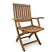Somerby Teak Folding Arm Chair