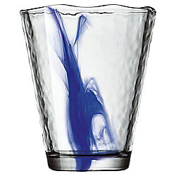 Bormioli Blue Swirl Hiball Glass Single