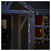 50 Battery Operated LED Christmas Lights, White