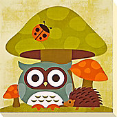 Owl & Friends Canvas Picture 3