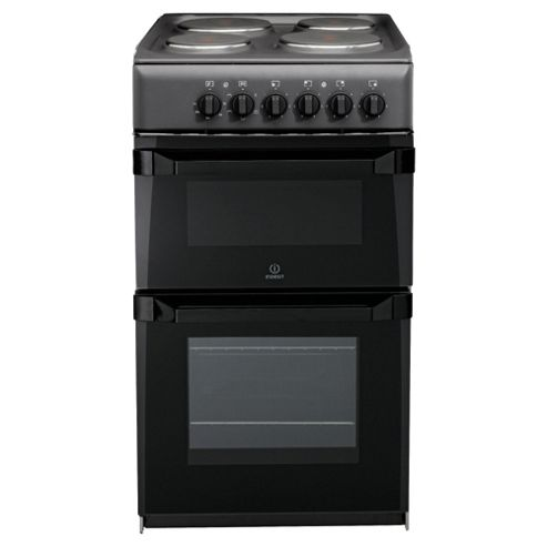 Indesit IT50E(A)S Anthricite Electric Cooker, Twin Cavity, Single Oven