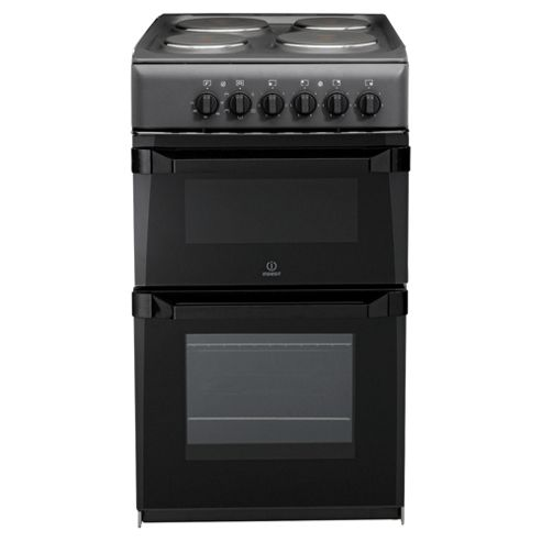 Indesit IT50E(A)S, Anthricite, Electric Cooker,  Single Oven, 50cm