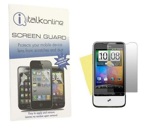 iTALKonline S-Protect LCD Screen Protector and Micro Fibre Cleaning Cloth - For HTC Legend