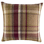 Plum Check Cushion