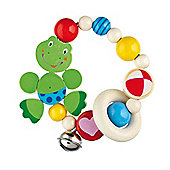 Heimess 735250 Wooden Elasticated Touch Ring Rattle (Frog)