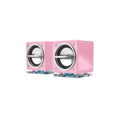 Trust Cube Portable Notebook Speakers - Pink