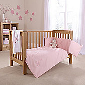 Clair De Lune Starburst 2 Piece Bedding Set - Pink - Pink