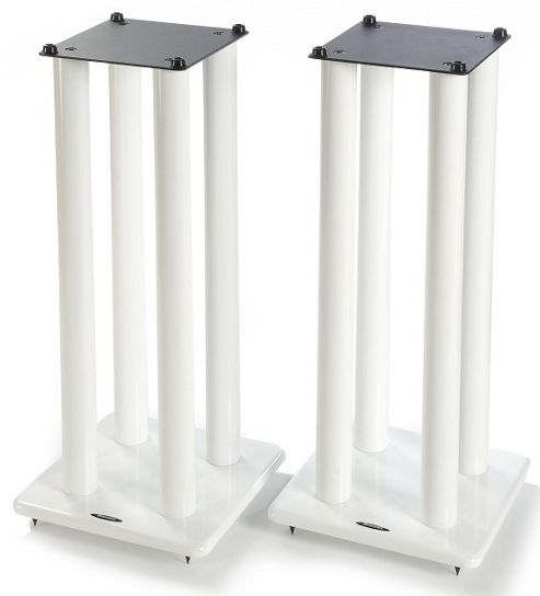 Atacama Pair of Speaker Stands in White - Height 700mm