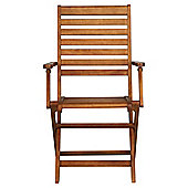 Windsor Wooden Folding Garden Dining Arm Chair - 2 Pack