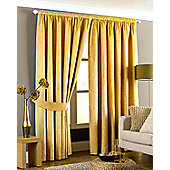 Emperor Pencil Pleat Ready Made Curtains- Fully Lined - 5 Colours - Gold