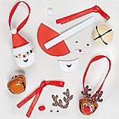 Santa & Reindeer Bell Decoration Kits (6 Pcs)
