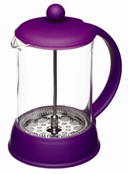 KitchenCraft Colourworks 800ml Cup Cafetiere in Purple