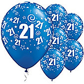 11' 21st Swirl Around Sapphire Blue (25pk)
