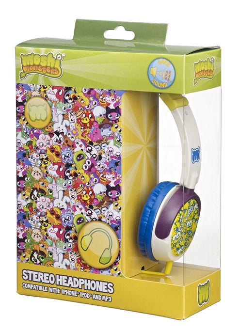 Moshi Monsters On-Ear Headphones for iPod/MP3 Players/Tablets - White