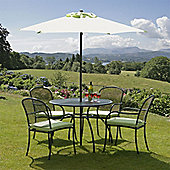 Bentley Lime & Charcoal 1m 4 Seat Garden Dining Set