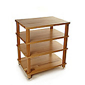 Hi Fi Racks Podium Slimline 4 Tier Rack Walnut