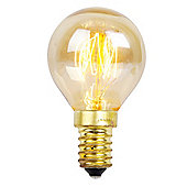 Squirrel Cage Golfball Amber Bulb SES Cap 25w