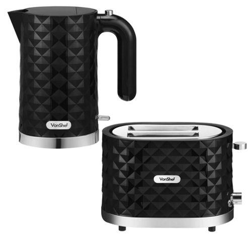 buy vonshef diamond kettle and 2 slice toaster set from. Black Bedroom Furniture Sets. Home Design Ideas
