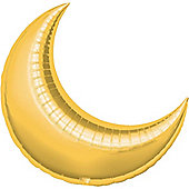 Gold Crescent Balloons - 35' Foil Balloon (3pk)