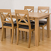 G&P Furniture 5 Piece Rectangular Dining Set