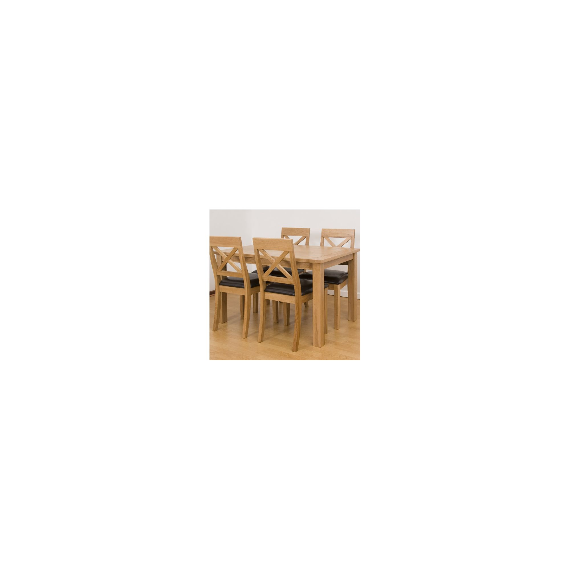 G&P Furniture 5 Piece Rectangular Dining Set at Tesco Direct