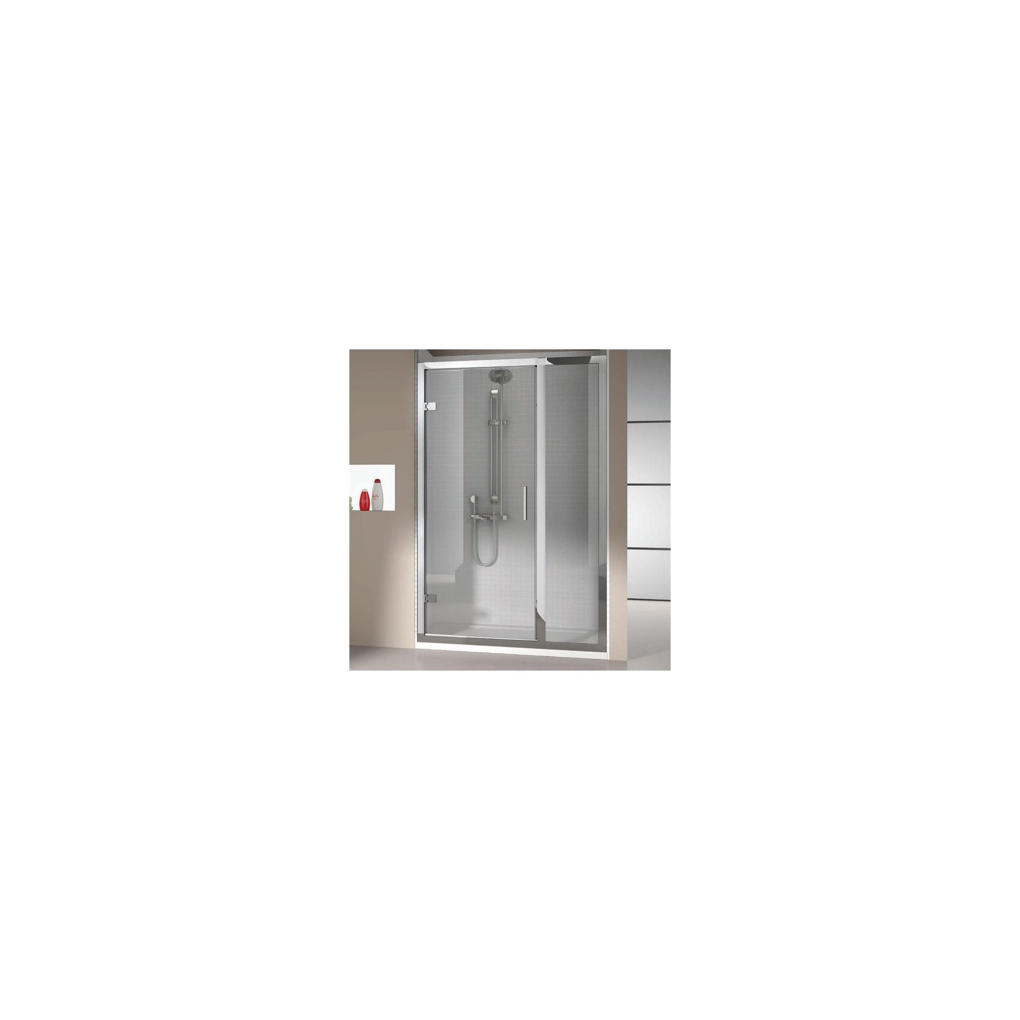 Merlyn Vivid Eight Hinged Shower Door Enclosure with Inline Panel 1200mm x 800mm (including Merlyte Tray) at Tesco Direct