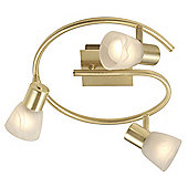 Home Essence Raider 3 Light Ceiling Spotlight in Brass Matte