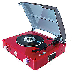 GPO Stylo Turntable with Speakers Red