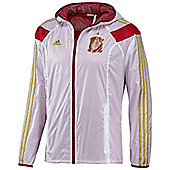 2014-15 Spain Adidas Anthem Jacket (White) - White