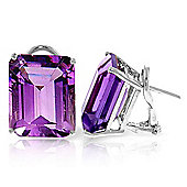 QP Jewellers 13.0ct Amethyst Auroral Stud Earrings in 14K White Gold