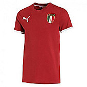 2014-15 Italy Puma FIGC Badge Tee (White) - Red