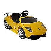 Kids Electric Car Lamborghini Murciélago 12 Volt Yellow Gloss