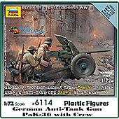 Zvezda - German Anti-Tank Gun PAL-36 With Crew 1/72 6114