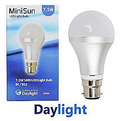 MiniSun B22 7.5W SMD LED GLS Bulb 6500K 630 Lumens