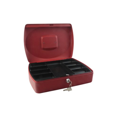 Q-Connect KF04253 Cash Box 12-inch - Red