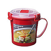 Sistema Soup Mug Red 656ml Red