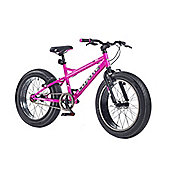 "2015 Coyote Fatman Fat Bike 20"" x 4"" Neon Pink/Matt Black"